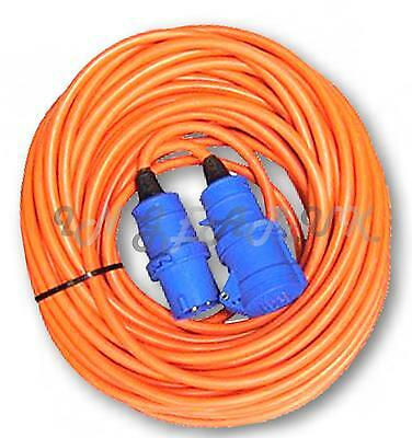 Boat mains extension lead cable LONG 25M hookup electrics hook up 240v orange