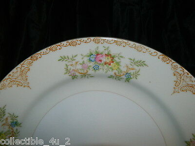 "10"" Dinner Plate~Hand Painted Kongo China Made in Japan Porcelain Dinnerware"
