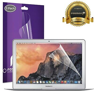 Fosmon 3X Crystal Clear Screen Protector Cover Guard for Macbook Air 13.3 inch