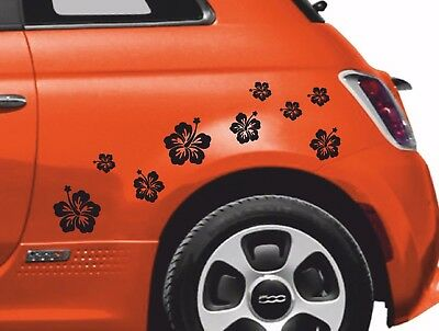 18 x Hawaiian Flowers A4 Vinyl Sticker Sheet, Car, Window, Wall Art, 11 Colours