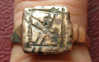 Ancient Artifact   Metal Detector Find   FINGER RING 7 US 17.25mm 9694 DR
