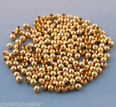 600 pcs GOLD plated loose spacers beads DIY Jewelry making findings 3mm