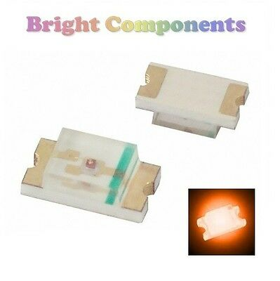 10 x 1206 Orange LED (SMD) - Ultra Bright - UK - 1st CLASS POST