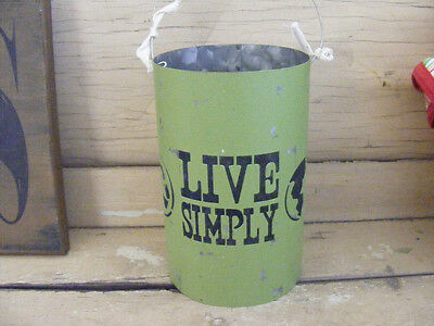 GO GREEN CANDLE HOLDER METAL CAN