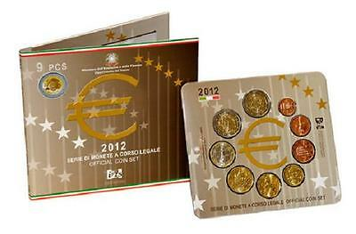 Set  Euros ITALIA 2012  Official Italian Euro coin set Serie di Monete a corso