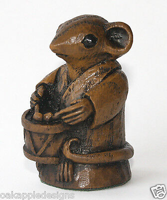 Church Mouse Carving Musician Drumming Unique Collectable Birthday Gift Ornament