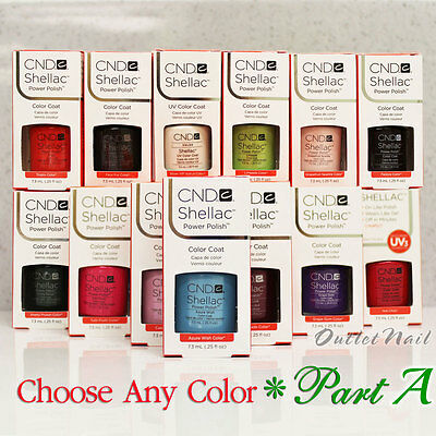 CND SHELLAC UV GEL COLOR Polish / Base Top Coat PART 1 - All New Collection!