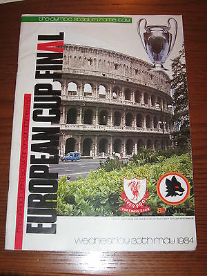 As Roma Liverpool Programma Programme Final European Cup Coppa Campioni 1984