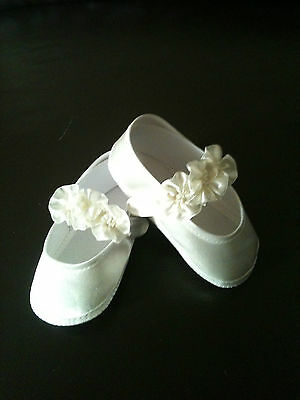 FREE POST G01 New Baby Flower Girl Christening Baptism Shoes Booties 0-12Months