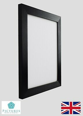 "Black Photo Picture Frame 28mm 8x8"" 8x9 8x10 8x11 8x12 8x13 8x14-34"" Mount Glass"