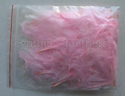 "1//4Oz+ Gold Yellow 1~3/"" Turkey Marabou Feathers for crafting 50-70 counts 8g"