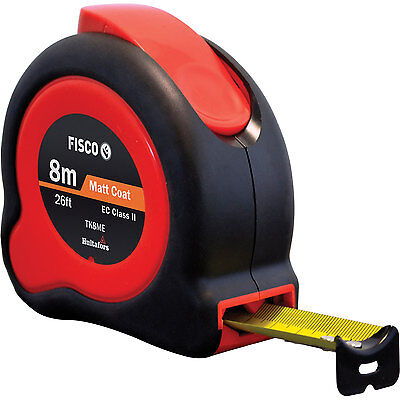 Fisco/Hultafors 8m 26ft TUF-LOK HI-Viz Metric/Imperial Tape Measure FSCTKC8ME