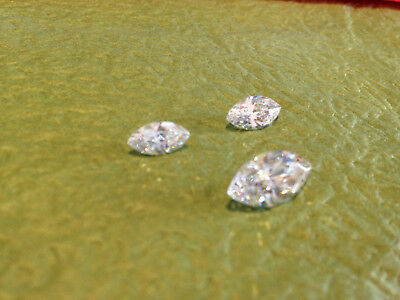2 carat Russian Simulated MARQUISE CUT LAB Diamond WHITE (12 x 6 mm) (1 PC)