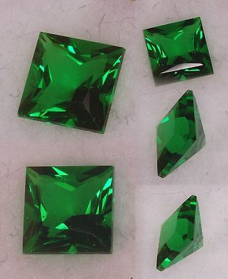 TWO PCS -  1 Ct Russian  Sim Diamond PRINCESS CUT (EMERALD) 5.5 X 5.5 MM