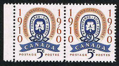 Canada Sc# 389 = 1960 5¢ GIRL GUIDES ASSOCIATION = MINT VF NH PAIRS