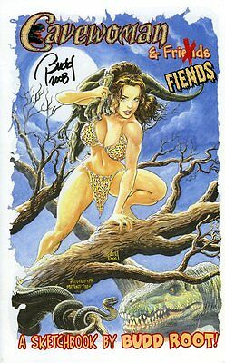 CAVEWOMAN CONVENTION BOOK - 2008 Heroes Con -REGULAR- SIGNED BY BUDD ROOT!
