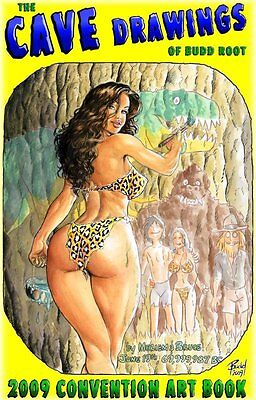 CAVEWOMAN CONVENTION BOOK - 2009 Heroes Con -REGULAR- SIGNED BY BUDD ROOT!