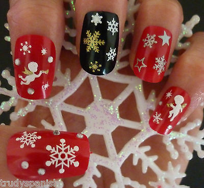 Christmas Snowflakes Design 3D Nail Art Stickers Decals Nail Decoration (SN)