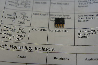 NOS HP 5082-4364 qty 5 isolator 4364 dip8          Ship in USA tomorrow!