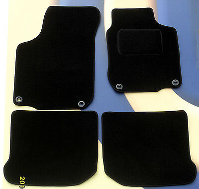 Vw Golf Mk4  Black Quality Carpet Car Mats From 97-04 With Round Clips