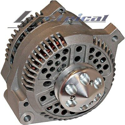 ALTERNATOR For FORD MUSTANG 65-96 HOT ROD BILLET PULLEY 1 ONE WIRE HIGH 130 AMP