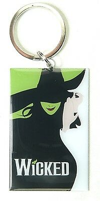 WICKED BROADWAY SOUVENIR ALUMINUM KEYCHAIN - NEW