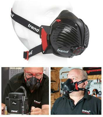 TREND P3 Filter Air Stealth Safety Dust Respirator Half Face Mask Medium/Large