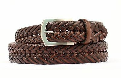 Hired Hand by Nocona Braided Brown Leather Belt N2630602