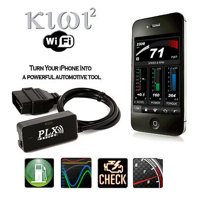 PLX KiWi 2 WiFi iPhone / iPod interface OBDII diagnostic performance tool