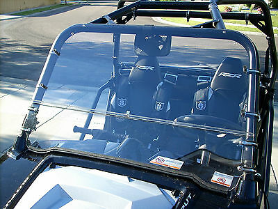 POLARIS RZR 2 Pc FULL /SPLIT WINDSHIELD RZR 570,800,900 (doesn't fit 2015+ 900)