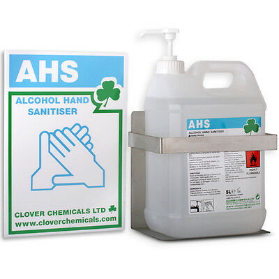 Wall Mounted Dispensing System And Sign For Alcohol Disinfecting Hand Sanitiser