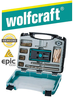 WOLFCRAFT Undercover Pocket Hole Jig Kit Set & Drill Bit, Screws, Collar, 4642