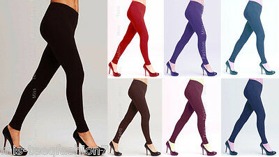 Womens Winter Warm THICK Cotton Leggings Full Length All Sizes 8-28
