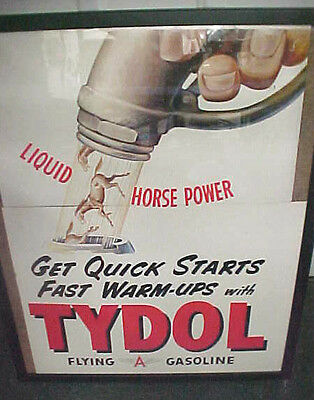 RARE vintage Flying A Gasoline Liquid Horse power sign display advertisement