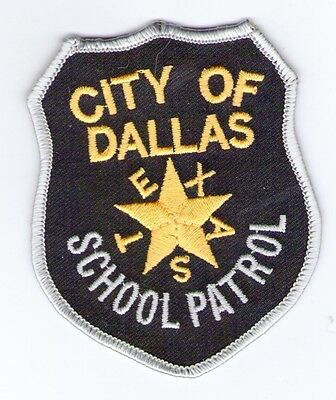 Embroidered Patch Police City Of Dallas School Patrol Texas