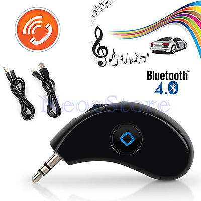 Bluetooth 4.0 CSR Built-in Mic Music Receiver Adapter AUX 3.5MM Car Audio Dongle