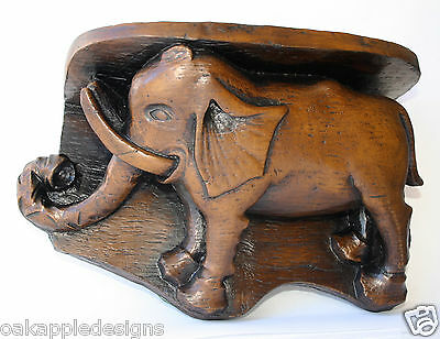 Medieval Elephant Carving Cathedral Misericord Unique Hand Made Collectable Gift