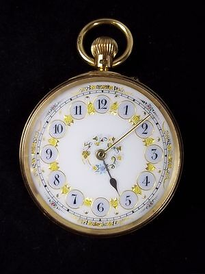A Very Ornate Ladies 18k Gold Pocket Top Wind Watch Retailed W. Meridith 1858