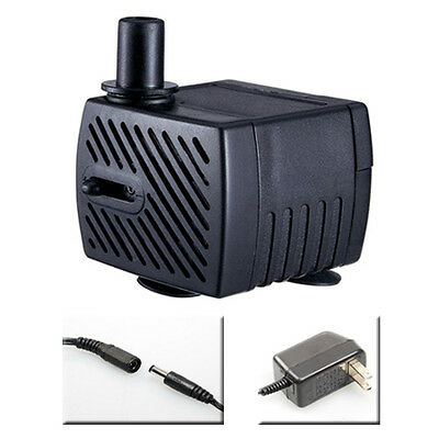Submersible Fountain Pump 40gph Hydroponic Cat/Dog Water Bowl Jack Connection