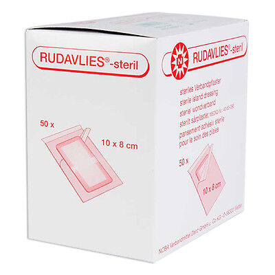 50 x Nobamed Rudavlies 10 x 8 cm Wundpflaster steril Pflaster Wundschnellverband