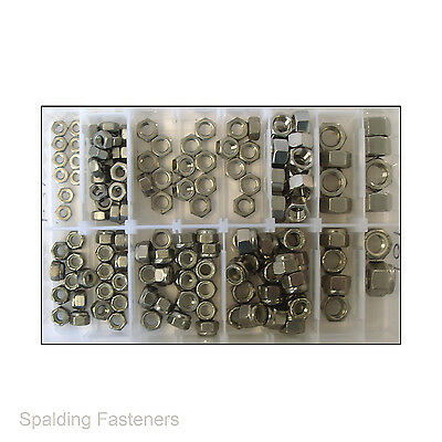 Assorted UNF A2 Stainless Steel Hexagon Full Nuts & Nyloc Nuts