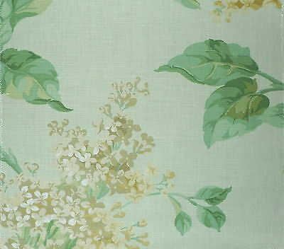 SCALAMANDRE Lilac Floral Gold Green Celadon Oyster Linen Cotton Remnant New