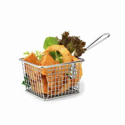 6 x Serving Basket in Fryer Style, Athena, Rectangular, 118mm