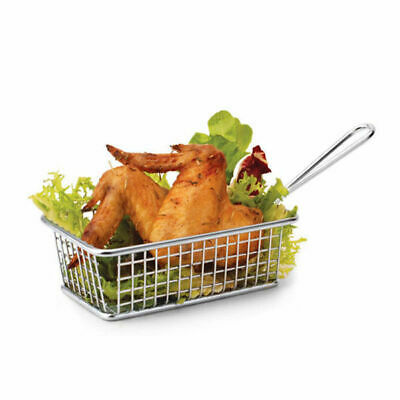 6 x Serving Basket in Fryer Style, Athena, Rectangular, 160mm