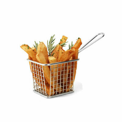 6 x Serving Basket in Fryer Style, Athena, Square, 94mm