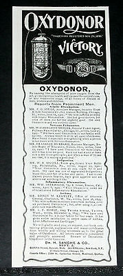 1900 Old Magazine Print Ad, Oxydonor, Cures All Forms Of Disease, Pure Oxygen!
