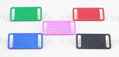 MADE IN USA Small Slider Pet ID Tag Custom Diamond Engraved Dog Cat Aluminum