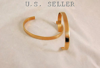 Brass Bracelet Cuff Blanks Wholesale lot 1/4 inch Pkg Of 12