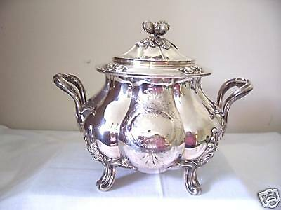 France sterling silver sugar bowl hallmarked  A. DEBAIN