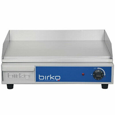 Birko Commercial Benchtop Polished Grill Griddle 10 Amp 2200W 1003101